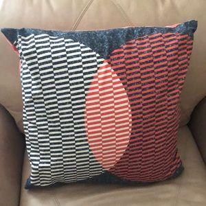 Two sided IKEA cotton accent pillow